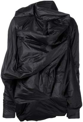 Rick Owens ruched long-sleeve jacket