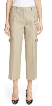 Michael Kors Embellished Crop Cargo Pants