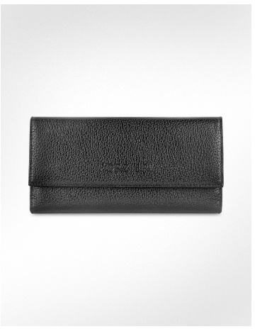 Forzieri Women's Pebble Italian Leather Clutch Wallet