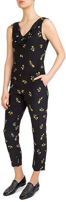 The Kooples Popcorn Flowers Printed Silk Jumpsuit