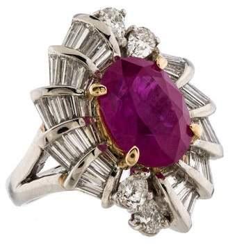 Ring 5.72ct Burmese Ruby & Diamond