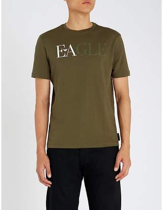 Emporio Armani Logo-embroidered cotton-jersey T-shirt