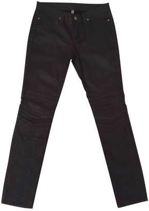 Acquaverde Brown Cotton Jeans for Women