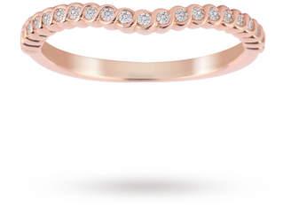 18ct Rose Gold 0.15cttw Twist Dip Band Ring