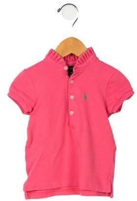 Ralph Lauren Girls' Button-Up Polo Shirt