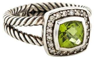 David Yurman Peridot & Diamond Petite Albion Cocktail Ring