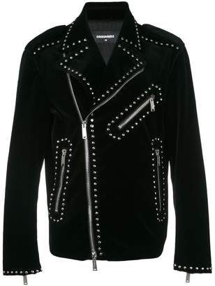 DSQUARED2 studded biker jacket