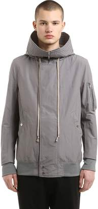 Rick Owens Drkshdw Hooded Zip Light Cotton Jacket