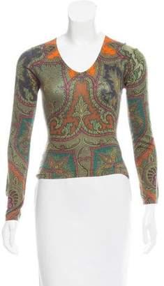 Etro Silk & Cashmere Knit Top