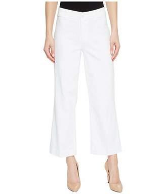 Paige Clean Front Nellie Culotte in Crisp White