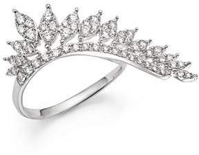 KC Designs 14K White Gold Diamond Wing Statement Ring