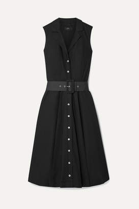 J.Crew Rudbeckia Belted Cotton-poplin Dress - Black