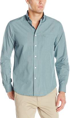 Dockers Long Sleeve Mini Grid Cvc Woven Shirt