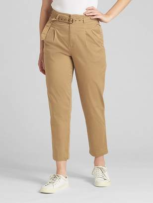 Gap High Rise Pleated Chinos with Belt