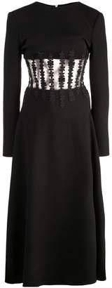 Oscar de la Renta crochet lace detail dress