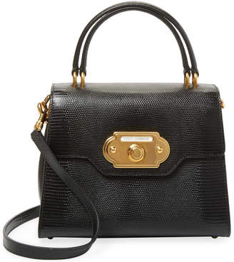 Dolce & Gabbana Welcome Embossed Leather Satchel