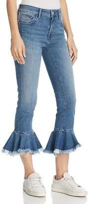 Mavi Jeans Tessa Cheeky High Rise Skinny Jeans in Mid Brushed Cheeky