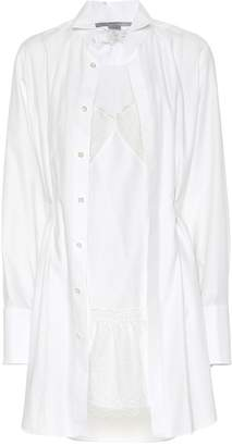Stella McCartney Embroidered cotton shirt dress