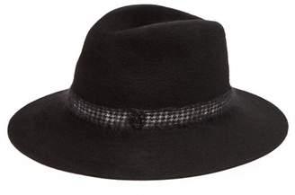 Maison Michel Henrietta Houndstooth Felt Hat - Womens - Black