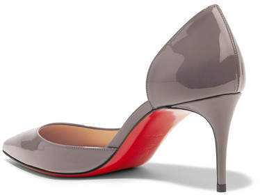 check out 6cd8b 643fa Christian Louboutin - Iriza 70 Patent-leather Pumps - Gray ...