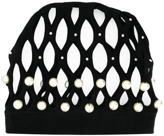cut-out studded hat