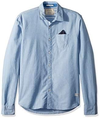 Scotch & Soda Men's Oxford Shirt with Chestpocket and Detachable Pochet