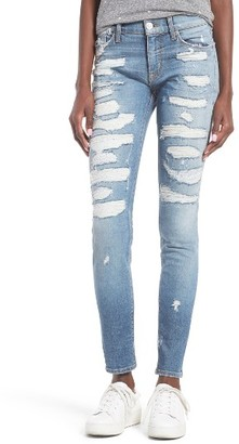 Women's Hudson Jeans Nico Shredded Skinny Jeans $265 thestylecure.com