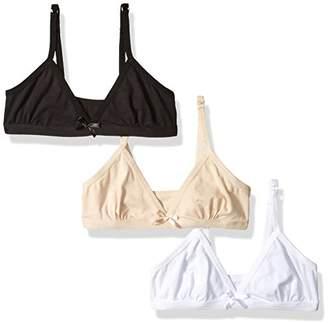 92760614ee6c0 Bestform Women's Junior 3 Pack Cotton Blend Triangle Trainer Bra