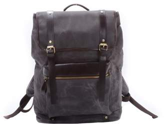 EAZO - Extra Large Waxed Canvas Backpack in Grey
