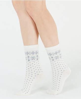 Polo Ralph Lauren Snowflake-Border Boot Socks