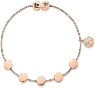 Tommy Hilfiger Rose Gold Coin Charm Bracelet