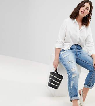 Zizzi Slim Leg Jean With Rips