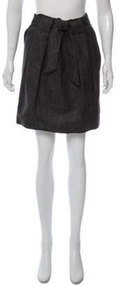 Agnona Silk-Blend Knee-Length Skirt