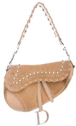 Christian Dior Crystal-Embellished Saddle Bag