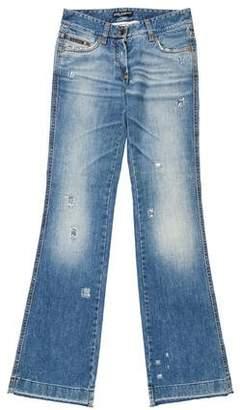 Dolce & Gabbana Low-Rise Distress Jeans