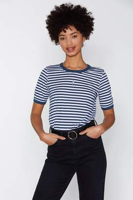 Nasty Gal Everything's Gonna Be All Stripe Ringer Tee