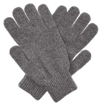 Paul Smith Cashmere And Merino Wool Blend Knit Gloves - Mens - Grey