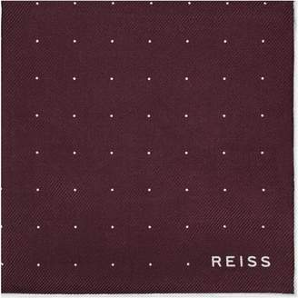 Reiss ORDER BY MIDNIGHT DEC 15TH FOR CHRISTMAS DELIVERY PLANET SILK TWILL POCKET SQUARE Burgundy
