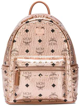 MCM small logo print backpack