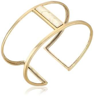 Barse Bronze and African Opal Cuff Bracelet