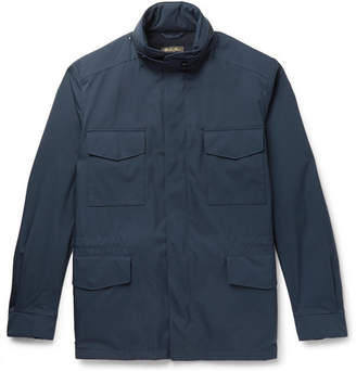 Loro Piana Traveller Cashmere-Lined Windmate Storm System Field Jacket - Navy