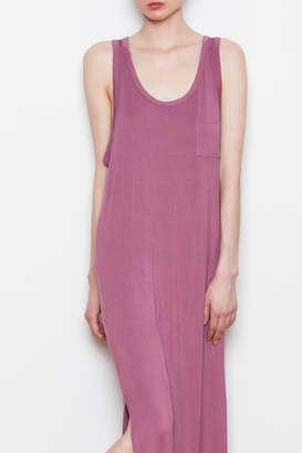 Double Zero Side Slit Maxi Dress