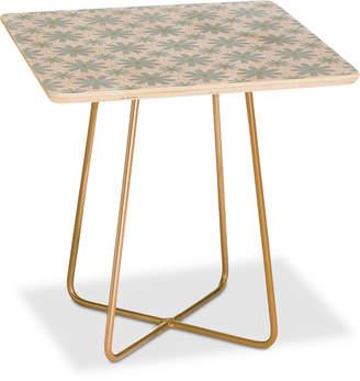 Deny Designs Caroline Okun Scandinavian Daisy Chain Square Side Table