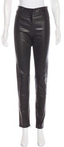 Christian Dior Leather Skinny Pants