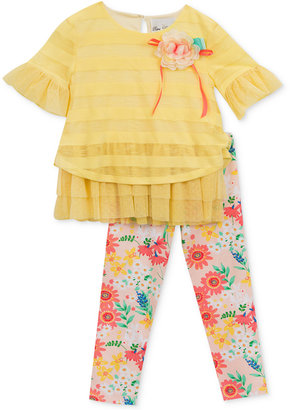 Rare Editions 2-Pc. Layered-Look Tunic & Leggings Set, Baby Girls (0-24 months) $50 thestylecure.com