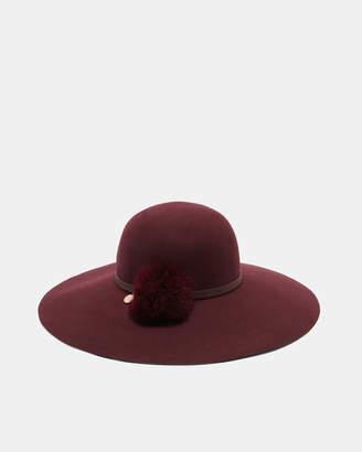 Ted Baker JANNET Feather pom pom floppy hat