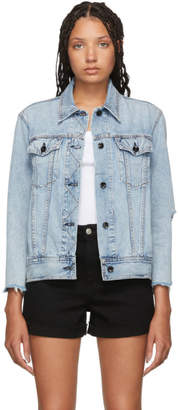 Rag & Bone Blue Denim Oversized Jacket