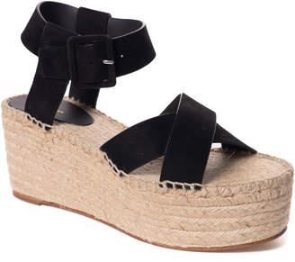 Celine Suede Platform Espadrille Sandal