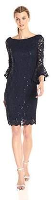 Tiana B Women's Bell Sleeve Sequin Lace Dress