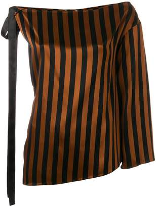 Kenzo Asymmetrical Top with Stripes